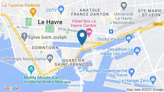 Mercure Le Havre Centre Bassin du Commerce Map