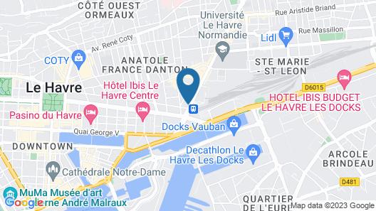 B&B Hotel Le Havre Centre Gare Map