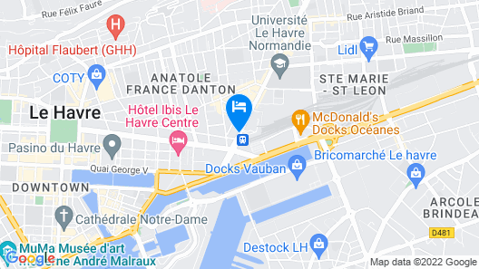Residence hoteliere du Havre Map