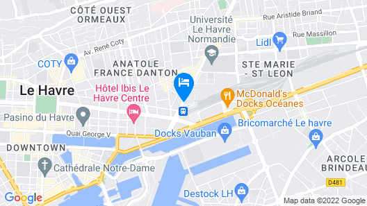 Nomad Hotel Le Havre Map