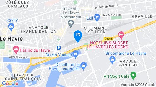 Hôtel Résidence La Frégate Map