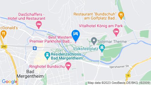 Best Western Premier Parkhotel Bad Mergentheim Map