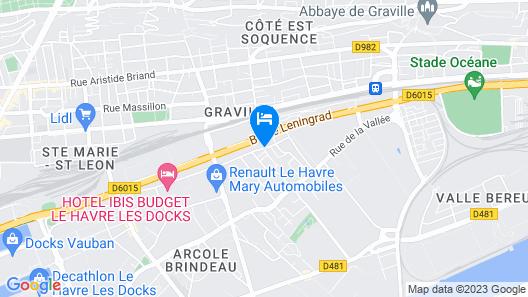 Premiere Classe Le Havre Centre Map