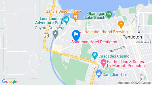Sandman Hotel Penticton Map