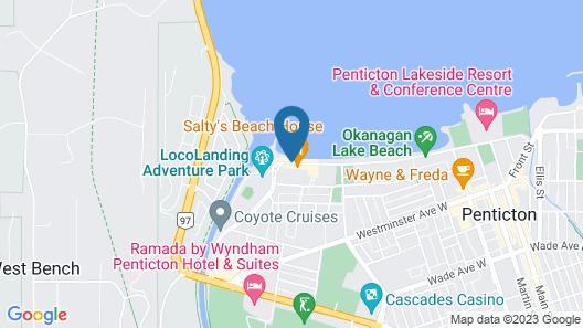 Golden Sands Resort Motel Map