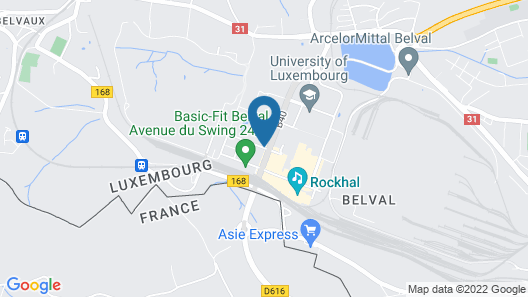Residhome Luxembourg Esch-Belval Map