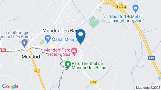 Hotel - Résidence Am Klouschter Map