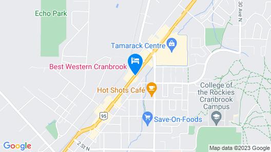 Best Western Cranbrook Hotel Map