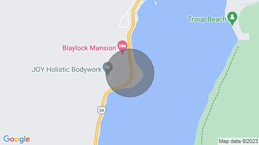 Hidden Creekside Cabin, 1 Min. Walk to Beach Map
