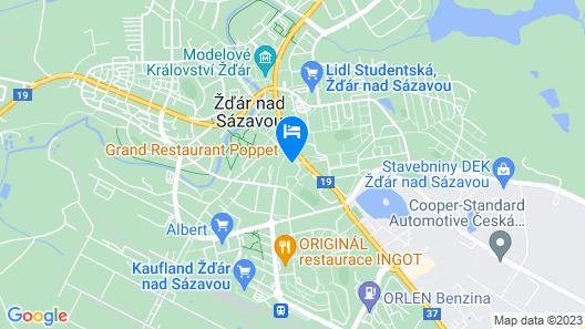 Hotel U Labutě Map