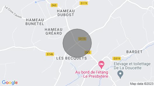 Gite Montaigu-la-brisette, 2 Bedrooms, 5 Persons Map