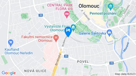 SLADOVNA Apartments Map