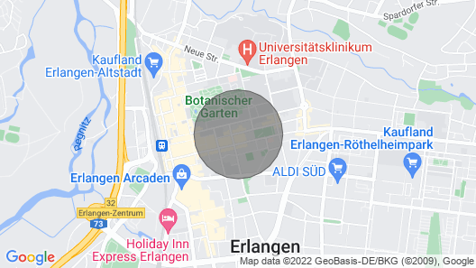 Top Apartment in the Middle of Erlangen Map
