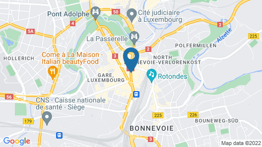 Park Inn by Radisson Luxembourg City Map