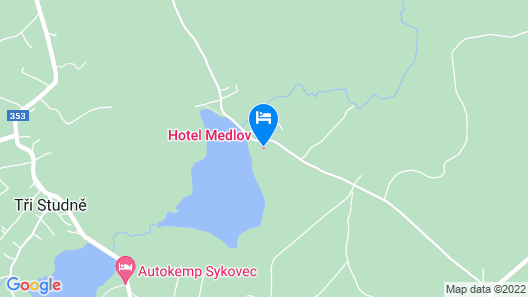 Hotel Medlov Map