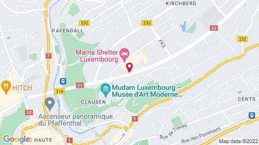 Novotel Suites Luxembourg Map