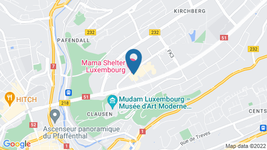 Sofitel Luxembourg Europe Map