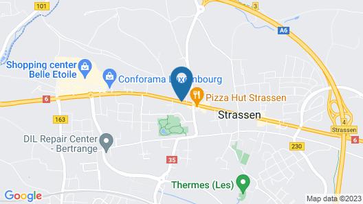 Mandarina Hotel Luxembourg Strassen Map