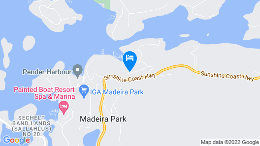 Madeira Park Bed and Breakfast Map