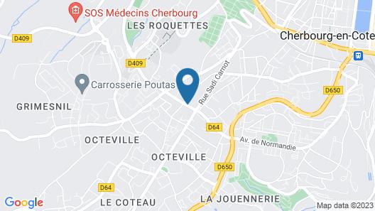 Brit Hotel Cherbourg Octeville Map