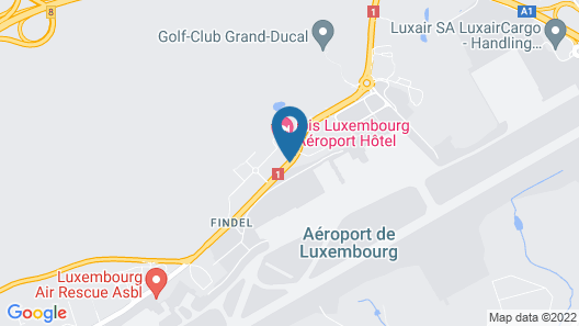 ibis Luxembourg Aéroport Map