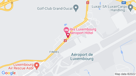 ibis budget Luxembourg Aéroport Map