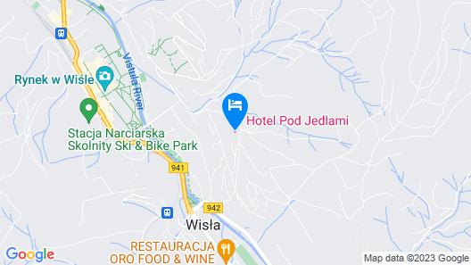Hotel Pod Jedlami Map