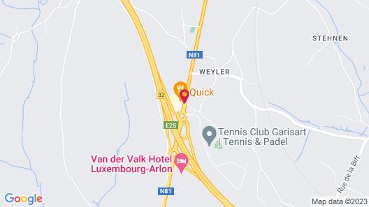 Van der Valk Hotel Luxembourg - Arlon Map