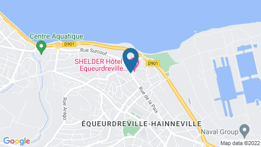 Hotel Kyriad Cherbourg - Equeurdreville Map