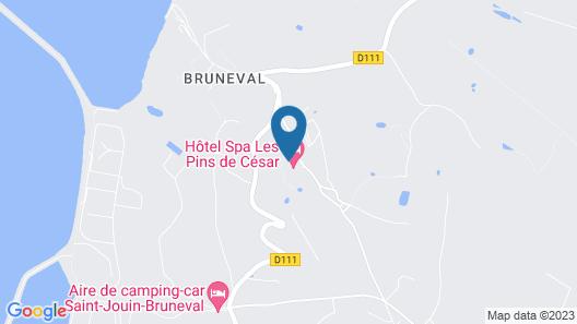 Hotel Spa Les Pins De César Map