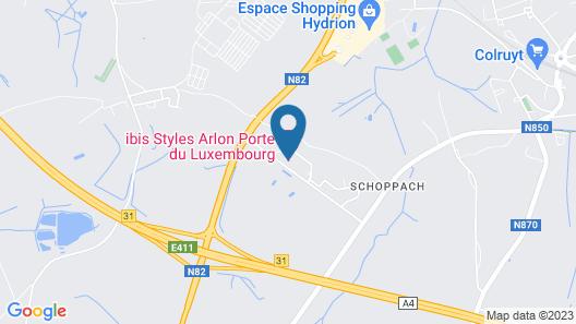 ibis Styles Arlon Porte du Luxembourg Map