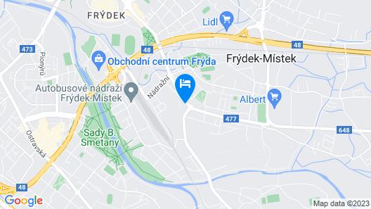 Penzion U Křivého psa Map