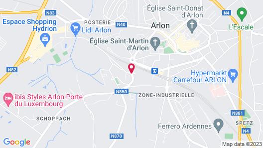 Appart'City Arlon - Porte du Luxembourg Map