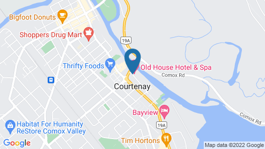 The Old House Hotel & Spa Map