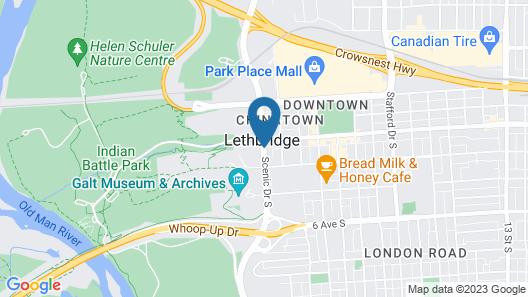 Sandman Signature Lethbridge Lodge Map