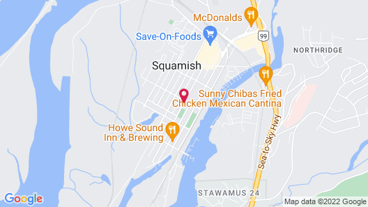 Hotel Squamish Map