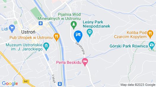 Hotel Diament Ustron Map