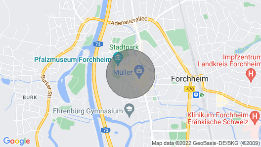 Cozy Apartment Right in the Center of Forchheim Map