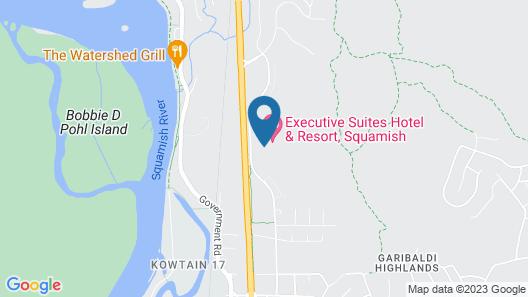 Executive Suites Hotel & Resort, Squamish Map