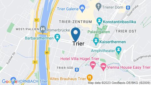 Best Western Hotel Trier City Map