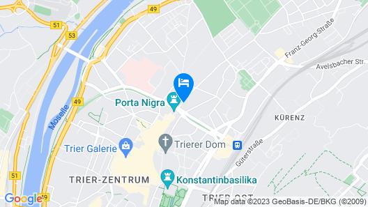 Hotel Porta Nigra Map