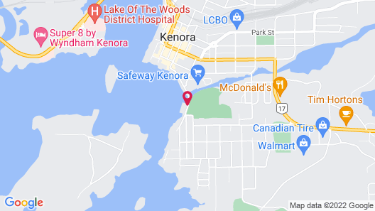 Clarion Inn Lakeside & Conference Centre Map