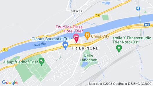 FourSide Plaza Hotel Trier Map