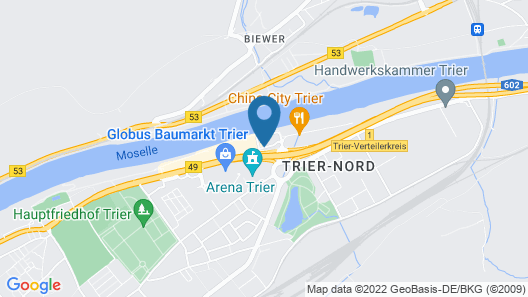FourSide Plaza Hotel Trier Map