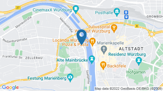 Mercure Hotel Wuerzburg Am Mainufer Map
