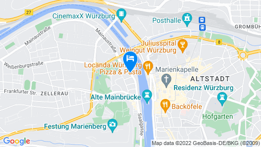 Mercure Hotel Wuerzburg Am Mainufer Map