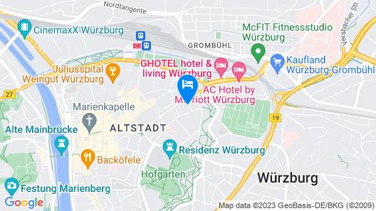 Dorint Hotel Würzburg Map