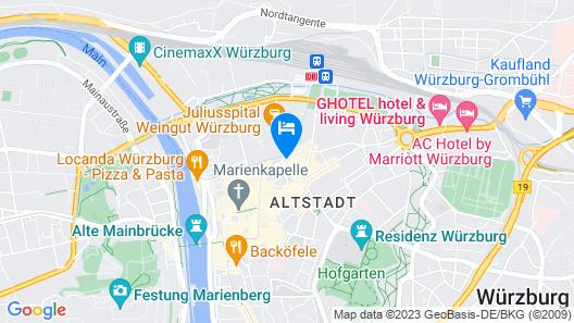 Hotel Würzburger Hof Map
