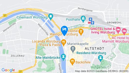 Maritim Hotel Würzburg Map