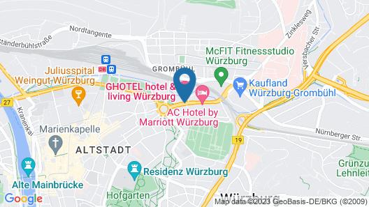 GHOTEL hotel & living Würzburg Map